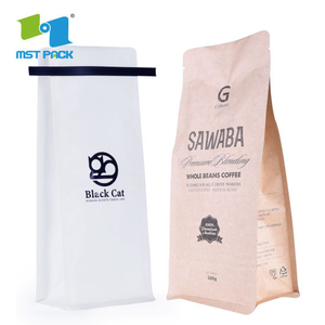 32oz Biodegradable Coffee Packaging Bag with One Way Valve