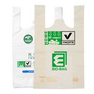 Custom Printed Eco Friendly Biodegradable Compostable Plastic Shopping Bag