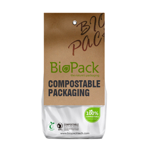 Customized Compostable Kraft Paper PLA Plastic Food Packaging Bag for Bread