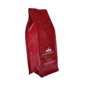 Custom Printed Resealable Compostable Ziplock Bag 500g Plastic Empty Coffee Bag