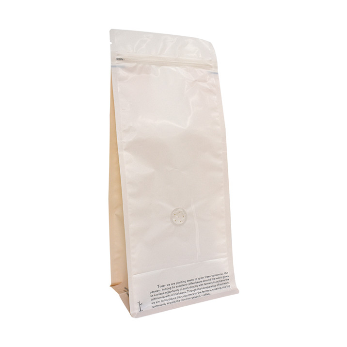 Customized Logo Printed Ldpe Flat Plastic Coffee Bag with Valve