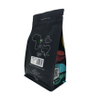 Customized PET / Foil / PE / PLA Aluminum Foil Valve Flat Bottom Coffee Bag