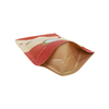 Customized Printing Kraft Paper Stand Up Bag for Non Food with Window And Zipper