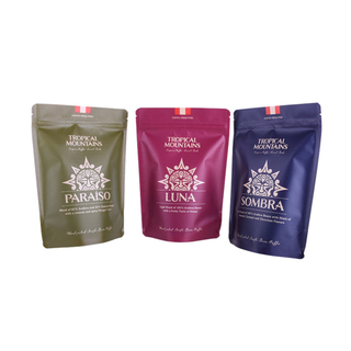 Low MOQ Pre Printed Recycled Stand Up Pouches For Tea Packaging