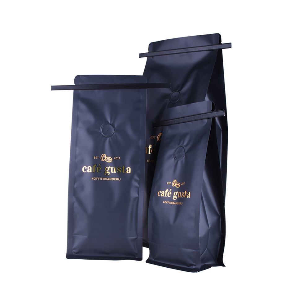 Custom Compostable Resealable Ziplock Coffee Bag Flat
