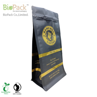Biobase and Recyclable Strong and durable Stand Up Food Coffee bag with Custom Logo From China