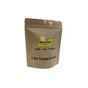 Food Grade Snack Packaging Coffee Tea Biodegradable Compostable Stand Up Bags