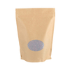 Food Packaging Kraft Paper Stand Up Bag Zipper Lock Pouch with Window