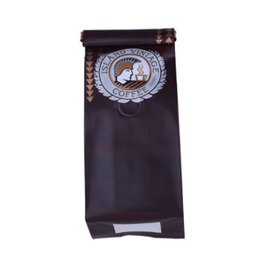 Certified Compostable Gusset Coffee Bag with Tin Tie
