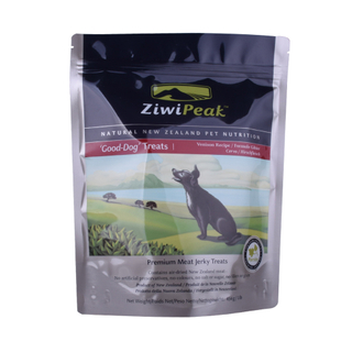 Custom Stand Up Ziplock Food Bag for Dog Cat Pet Treats Packing