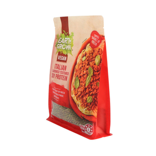 Eco Heat Seal Flexible Quad Base Bottom Pouch Recyclable Food Package