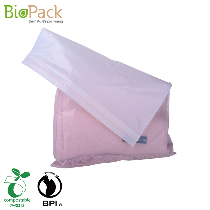 Certified 100% Compostable Printed Clothes Packaging Bag With Slider Zipper