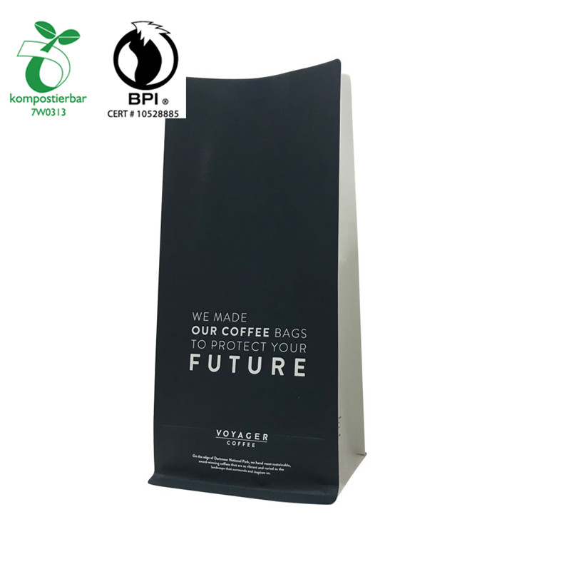 Recyclable ECO Friendly Custom Print White Kraft paper and Cornstarch Packing Bag from China