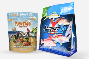 Food Grade Customized Print Large Capacity Toughness Pet Food Packaging Square Bottom Bag