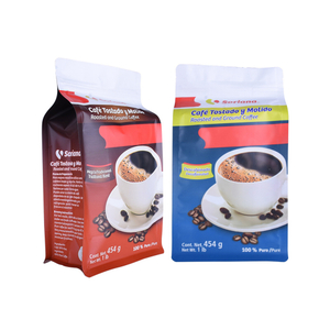Resealable Recycle Flat Bottom Coffee Bean Packaging Bags with Valve Supplier in China