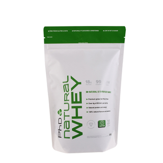 Resealable Whey Powder Logo Printed Custom Stand Up Pouch With Zipper Flexible Bag Supplier