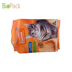 Good Seal Ability Aluminum foil Pet Food bag With Gusset and Low price