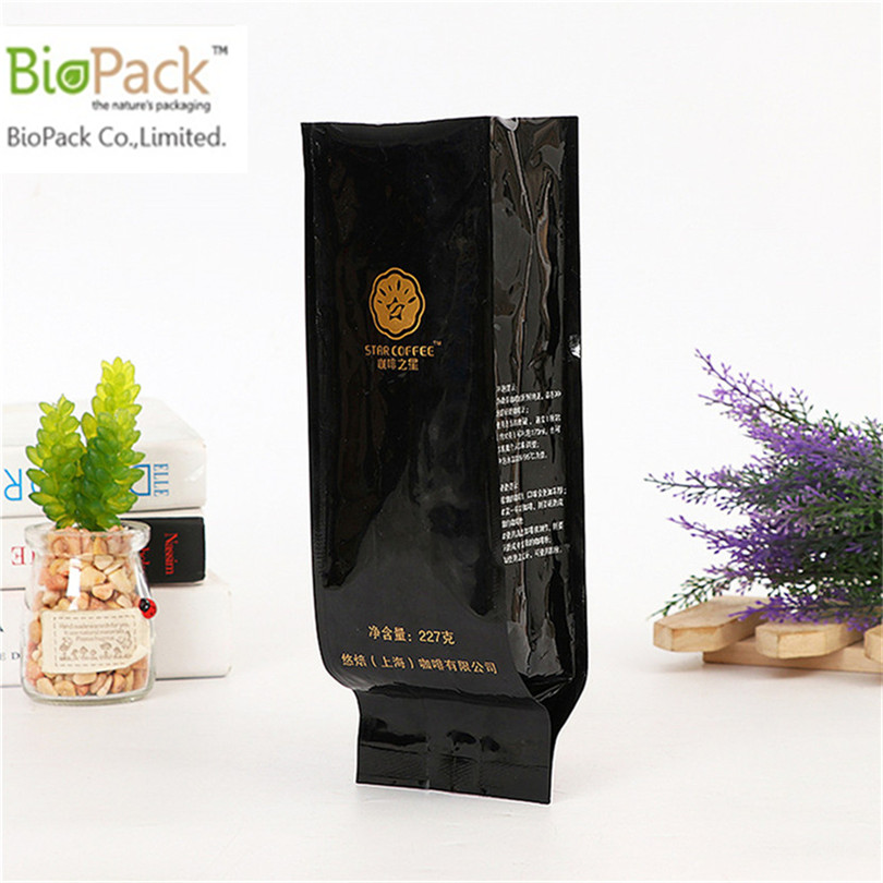 Gusset Wholesale Home Compostable Coffee Bag With Colour Pint Manufacturer China