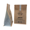 customized colors compostable Box Bottom Coffee Bag biodegradable pouch With Valve