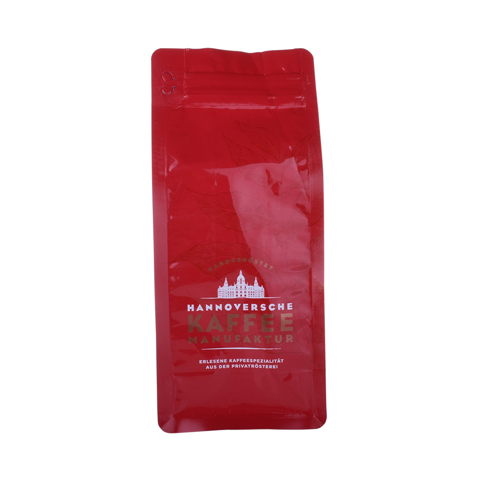 OEM Customized Printed Biodegradable Flat Bottom Recycling Coffee Bag With Valve