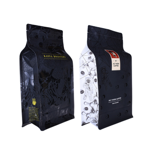 Custom Printed Matt Black Aluminum Foil 250g 1kg 12oz Flat Bottom Coffee Bag