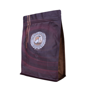 Custom Laminated Aluminum Foil Zip Lock Bag for Coffee with One-way Gassing Valve