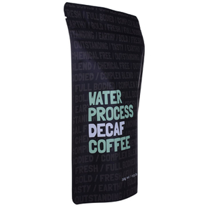 Zip Lock Matt Black Stand up Coffee Pouch