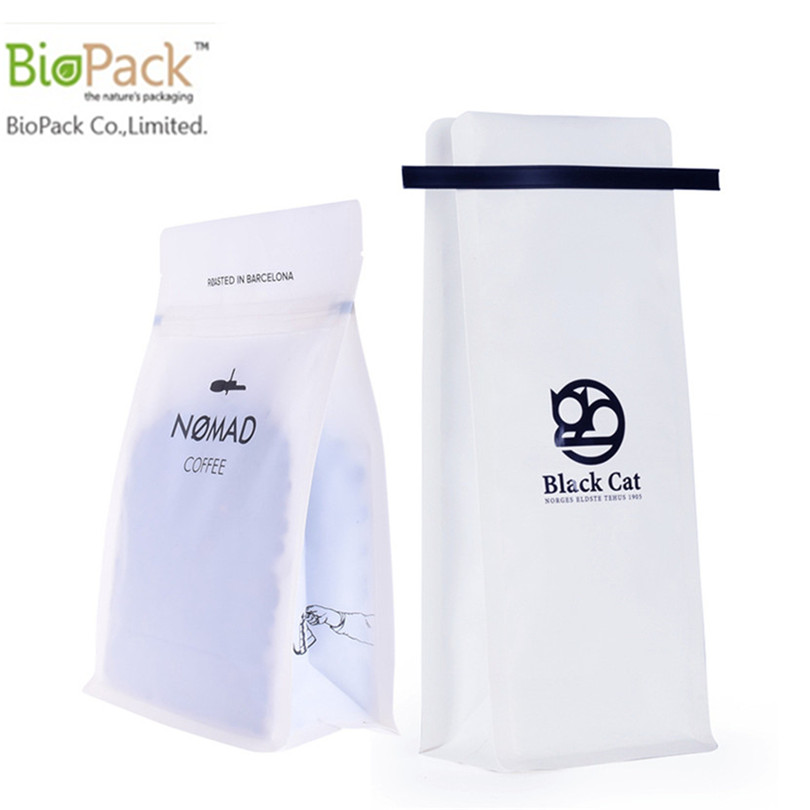Popular white gusset plastic free Eco Coffee and Tea Bag With Zip lock from China