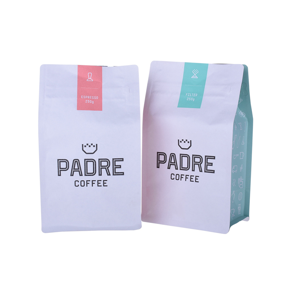 Customized Logo Printed Ldpe Flat Compostable Coffee Bag With Valve