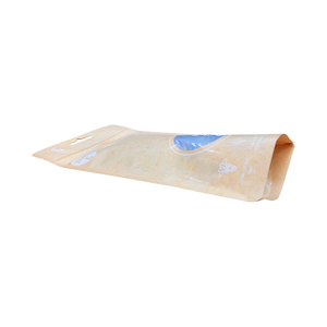 Corn Starch Bio Degradable Custom Kraft Paper Food Grade Stand Up Pouch Pet Treats With Window