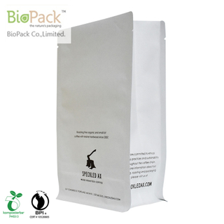 Zero waste New Recyclable Coffee bags paper coated with plant-base material from China
