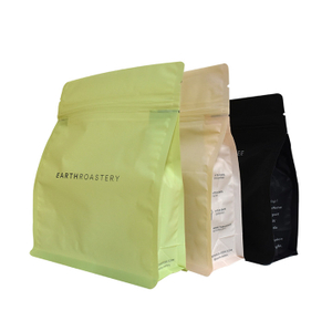 Laminated Material Square Bottom/Stand Up/Side Gusset Kraft Paper Bag For Tea