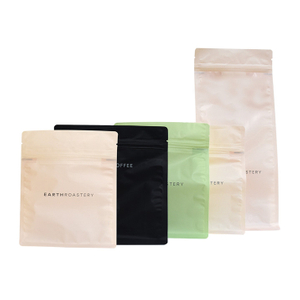 Good Seal Ability plastic poly flat bottom coffee bag