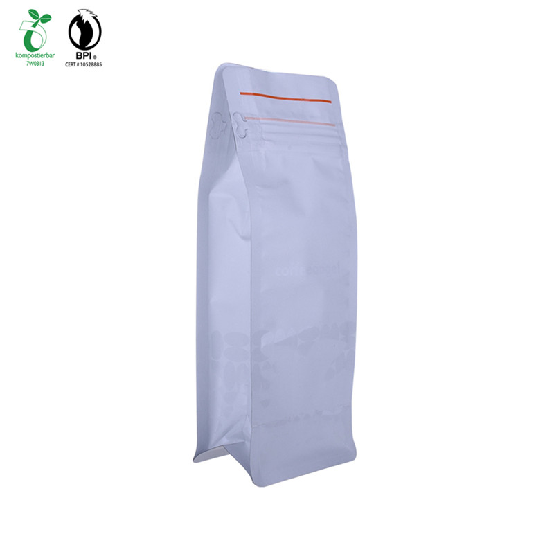 Front Ziplock Doypack Square Bottom Plastic Bag With Environmental Green Material In China