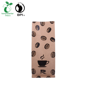 Hot Sale Compostable Biodegradable 500g Kraft Paper Packaging Coffee Bag