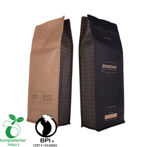 China Supplier Custom Print Ziplock Eco Friendly Recycled Coffee Packaging Bags with Valves