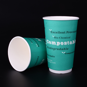 Customized Print Logo Compostable Food Grade Biodegradable Coffee Cup