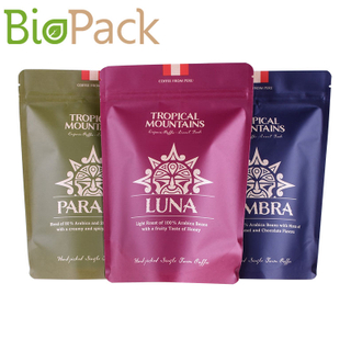 Small Resealable Kraft Food Pouch Coffee Bags Wholesale Supplier