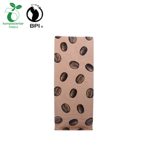 Flat Bottom Compostable Resealable Coffee Bag