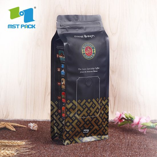 Aluminum Foil Plastic Packaging Compostable Coffee Bag Biodegradable Coffee Packaging Bag