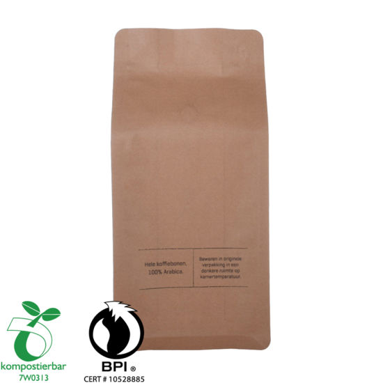 100% Bio-degradable coffee bag with zip lock and valve