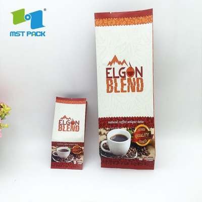 Heat Seal Custom Logo Printing Food Grade Laminated Biodegradable Material Side Gusset Aluminum Foil Compostable Zipper Bag for Packing Coffee