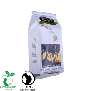 kraft paper bag with aluminum foil side gusset pouch for food packaging