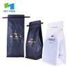 100% Bio-degradable coffee bag with zip lock and valve / Compostable Packaging Zip lock Coffee Bag with Valve