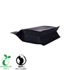 500g Matte black Falt bottom pouch laminated mylar for flexibe packaging