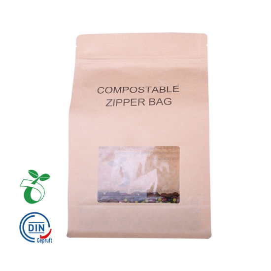 Custom Laminating Printed Clear Empty Biodegradable Plastic Tea Coffee Pouch Bag