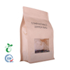 Eco Kraft Paper Zipper Flat Bottom Drip Coffee Pouch Cornstarch Bio Degradable PLA Bag