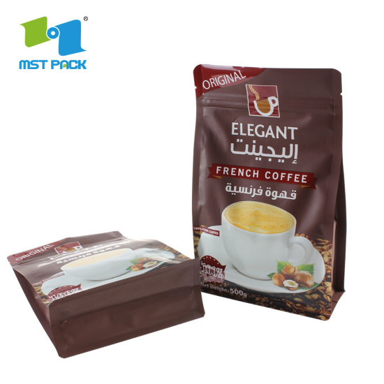 China Factory Suppliers Custom Logo Design Espresso Biodegradable Ground Coffee Packaging Bags for Ground Coffee with Valve