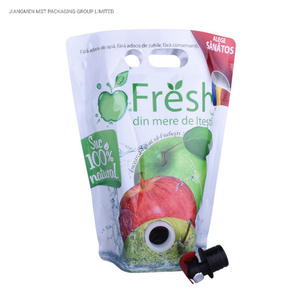 Reusable Plastic Stand up Bag with Spout Factory From China