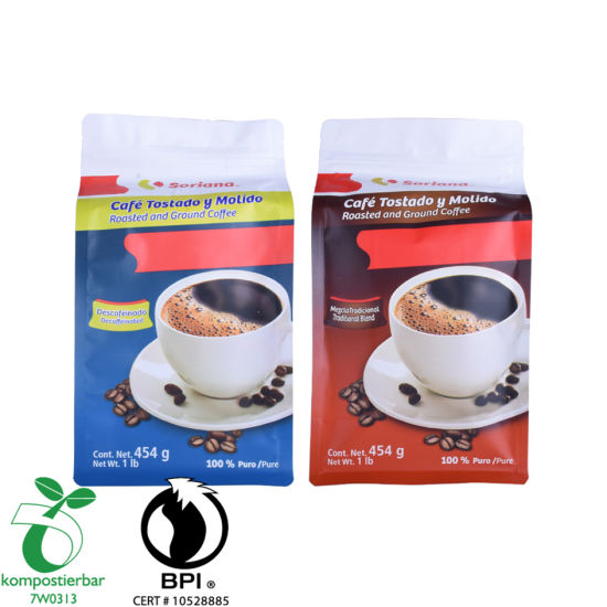 Inventory Foil Lined Square Bottom Roasted Coffee Packaging Supplier From China